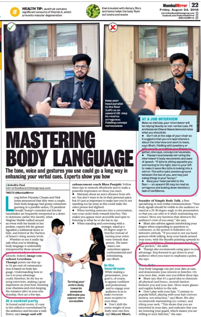 Inputs on Body Language for Success